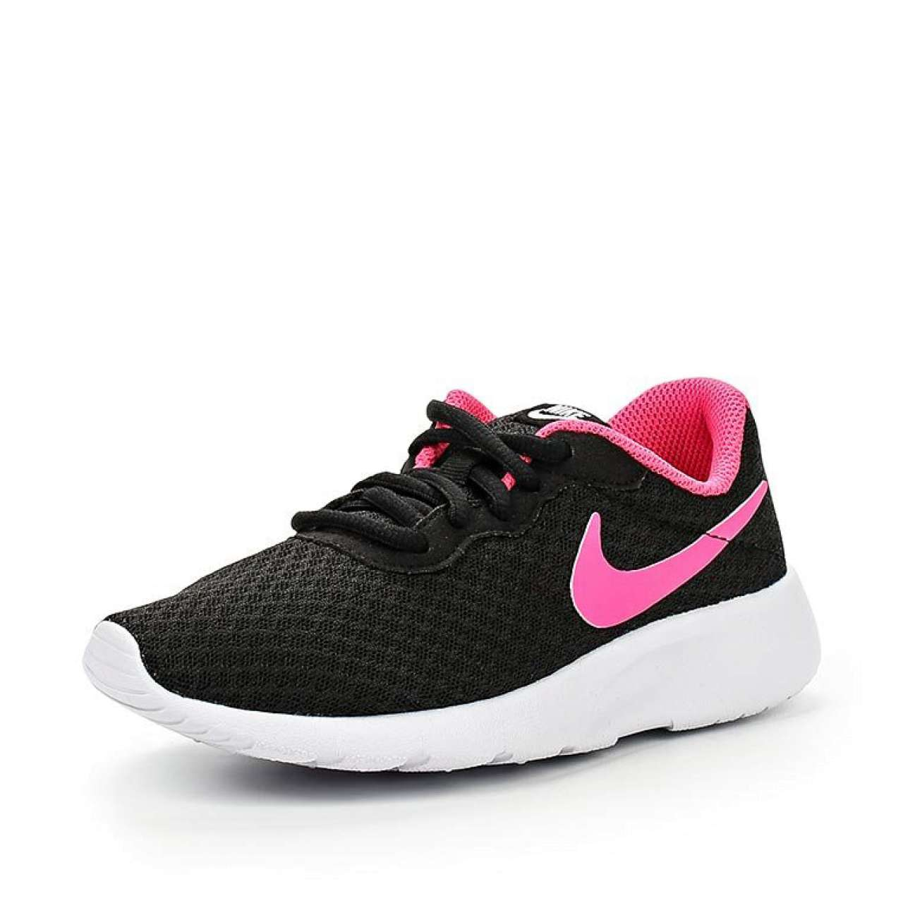 Кроссовки, Nike черного цвета с розовыми вставками